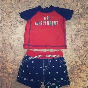 CARTERS 4th OF JULY SWIM SET